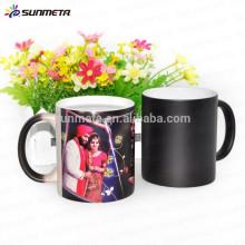 Caneca de café mágica de Sunmeta para a sublimação, copo de mudança da cor