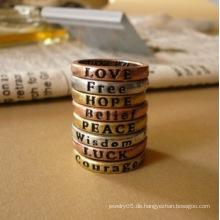 Ringe für Frauen Lovely 8X Retro Wunsch Briefe Heiße Paar Ringe