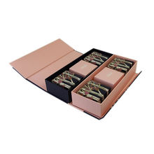 Luxury custom embossed logo cardboard gift box with foam insert