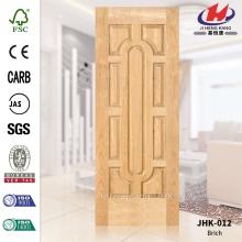 JHK-012 Modern Simplicity Project Good Model Moulded MDF Betula Alnoides Veneer Door Skin Manufacture