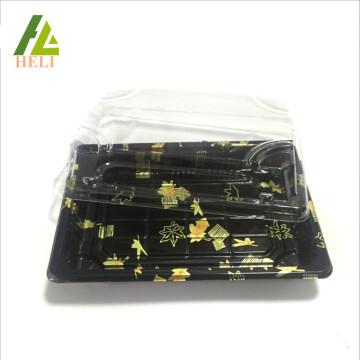 Plateau de sushis en plastique PS jetable