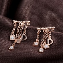 925 silver pave setting earring wire
