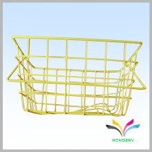 supermarket high capacith black metal wire display hanging basket racks