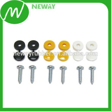 OEM Supply Durable Car License Plate Fixing Srew With White Cap