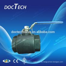 Aço de carbono 2pc Lockable válvula aço WCB