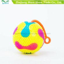 Flashing Sounding Light-up Spiky Puffer Massaging Ball Yo-Yo Toys