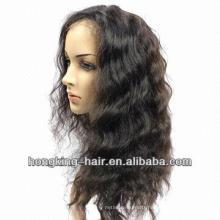 bleached knots baby hair looking 100% brazilian human hair wig