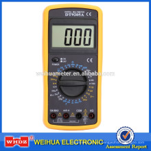 Multímetro digital de bajo precio DT9205A con prueba de capacitancia Auto Power Off