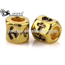 Wholesale Metal Beads With 4.5mm Hole For Snake Chain Through 18K Gold Plated Beads Hot Sale
