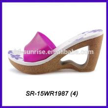 fashion sexy fuchsia lady slipper