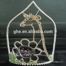Горячая распродажа красивая тирака короны животного жирафа животного устанавливает кроны тиары