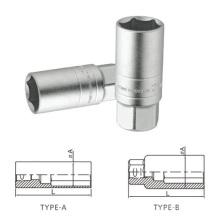 """Espelho superfície polimento Cr-V 1/2 """"3/8"""" Spark Plug soquetes"""