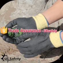 SRSAFETY 2015 best aramid fiber gloves full coated gloves working glove