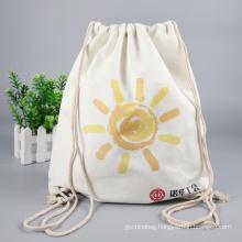 Wholesale custom printed logo cotton drawstring bag