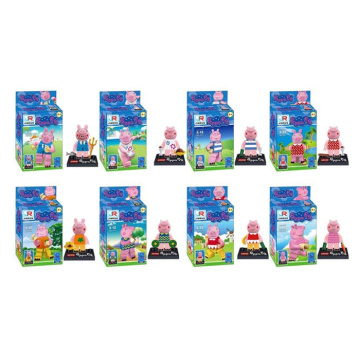 Cartoon Pink Pig Model Mini Figures Building Blocks 10245782