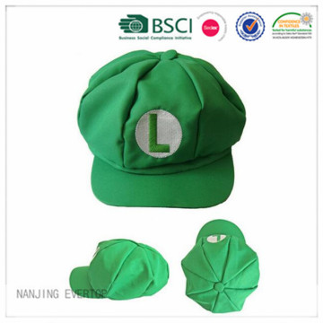 Fashion Green Flat Embroidery Octagonal Cap