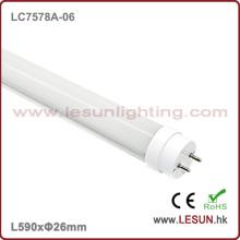 Luz del tubo de la alta calidad 10W 600m m LED T8 / luz fluorescente LC7578A-06