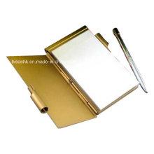Держатель металлической записной книжки с ручкой и бумагой