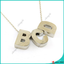 Collier de lettres initiales Fashion Silver pour fille (FN16041809)