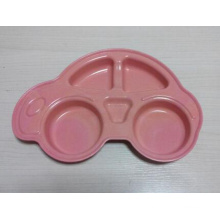 (BC-P1028) Bamboo Fiber Tableware Cute Multifuction Plate for Kids