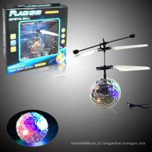 Flying Flash Ball Cristal Celestial Body Novel brinquedo elétrico indutivo