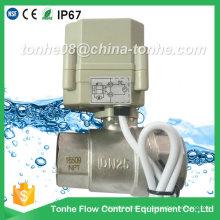 "1 ""Dn25 2 Way 12V 24V motorizada água elétrica fechada válvula de esfera"
