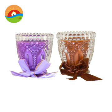 Pachnące logo Glass Glass Candle White