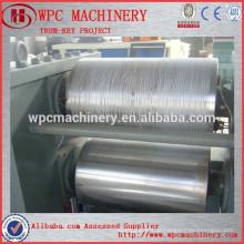 Máquina de estampagem de grão de madeira para produto wpc