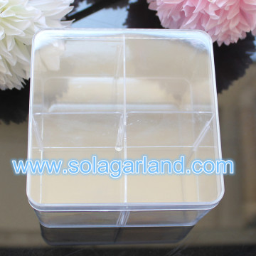 6*9.5CM 4 Grids Clear Square Plastic Box Containers Case