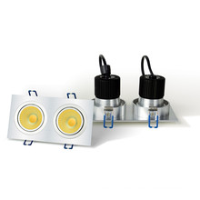LED Downlight - 2 x 6w COB - Square Housing