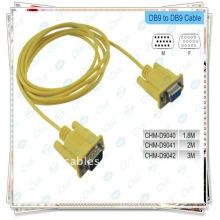 Câble DB9 de câble haute qualité RS232 avec jaune