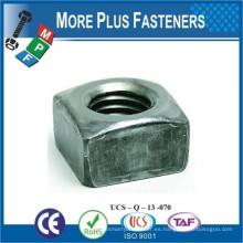 Hecho en Taiwán Tuerca cuadrada Oxido negro Acero inoxidable acabado de zinc Acero