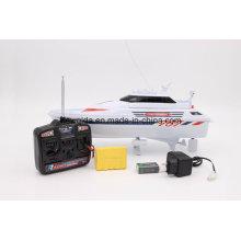 Nqd barato 1/25 branco amarelo navio modelo de barco de controle remoto rc