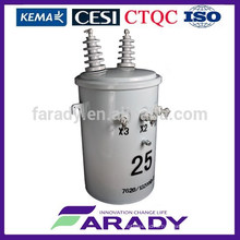 15kva oil immersed electrical transformer pole mounted D11 series