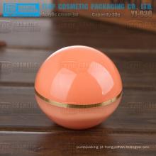 YJ-O30 30g incrível qualidade estável alto brilho claro suave e alta esfera forma frasco plástico