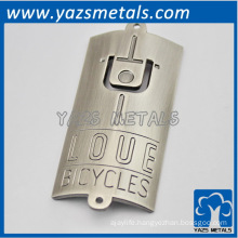 custom bicycle metal label, with personal logo