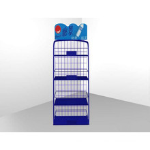 High Quality Factory Sale Flooring Wire Metal Mineral Water Display Rack