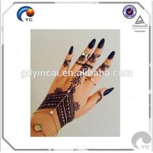 Tatouages d'art de corps humain faux de style de henné Mandala Tatouage temporaire de médaillon d'inspiration de bonne qualité