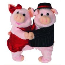 Customized soft toy ! OEM stuffed animal, plush dancing pig