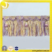Brush Fringe With Beads , Carpet Decorative brush trim