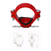 FM/UL Listed Ductile Iron 300psi Threaded Mechanical Tee