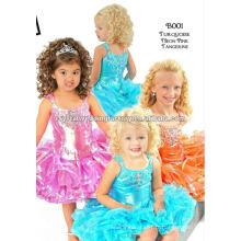 Vente chaude perlée à la mode turquoise turquoise à genouillère à la main faite sur mesure pour les filles CWFaf4741