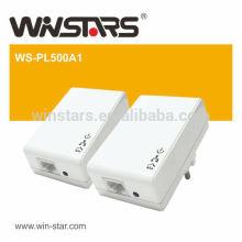 Adaptadores de rede elétrica 200Mbps com passagem AC, adaptador ethernet powerline, adaptador PL500A1 powerline