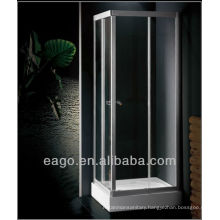 Tempered glass aluminum frame EAGO Shower enclosure with tray