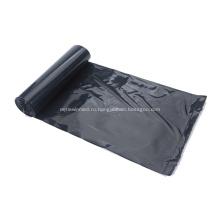 Мешок для мусора из полиэтилена черного цвета
