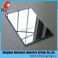 Espejo de cristal de hoja transparente de 1.5-2mm / espejo de aluminio
