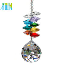 Faceted 40mm Green Glass Crystal Chandeliers Ball For Hangings