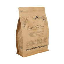 Recycle Kecil Brown Stand Up / Flat Kraft Paper Ziplock Coffee Bag Wholesale