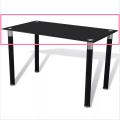 Vidro de mesa de jantar temperado retângulo de tamanho claro