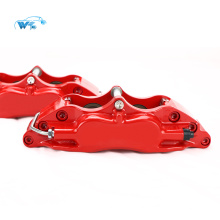 China auto brake parts supplier 4 Piston High-performance WT5200 Red brake caliper fit on 17 inches wheel size car front alxe CP5200 Family - 152mm Mounting Centres - 16.8mm thick pad